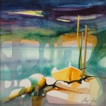 The Yellow Boat 30 x 30cm.