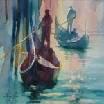 Evening on the Grand Canal 30 x 30 cm